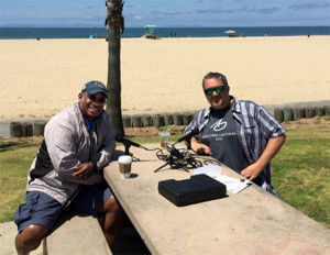 on the beach with Dr. Dave