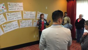 "images from Sharon Bowman's ""Training from the Back of the Room"" 2-day workshop - April 2016 - Orlando"