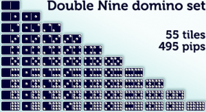 a set of Double Nines will contain a total of 495 pips (dots) across all 55 tiles