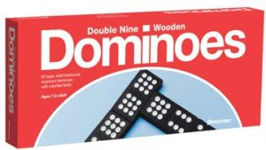 "Set of 55 ""double nine"" dominoes by Pressman"